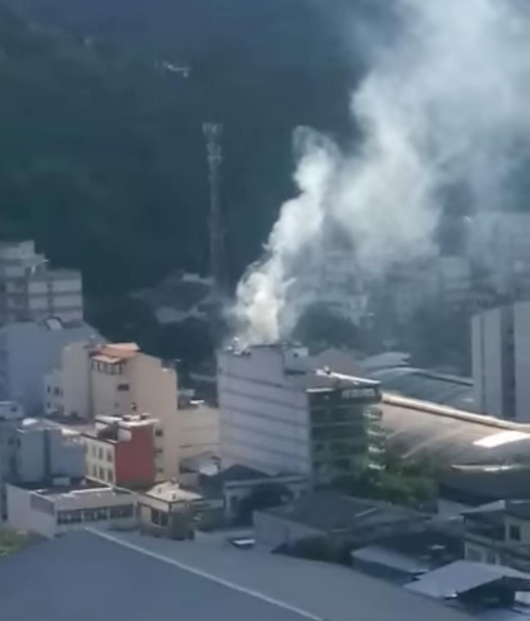 A fumaça na Chimarron do Centro (Reprodução da web)