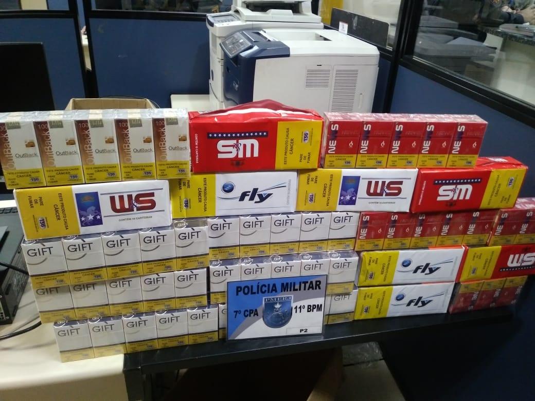 A carga contrabandeada (Foto: 11 BPM)