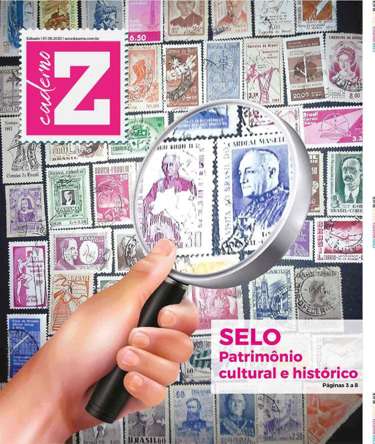 A capa do Caderno Z no Dia Nacional do Selo