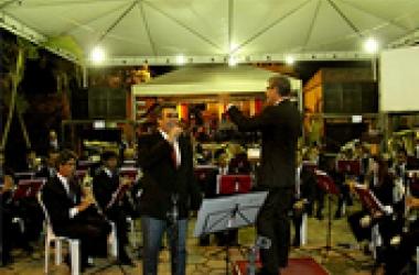 Banda faz concerto em São Sebastião do Alto