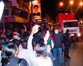 Protesto pelos ônibus intermunicipais