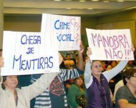 Protesto CPI da Saúde