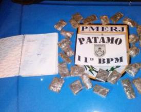 Material apreendido no Alto do Floresta, Conselheiro Paulino
