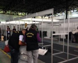 Agentes da Secretaria de Ordem e Mobilidade Urbana vistoriam o local (Foto: Divulgação)