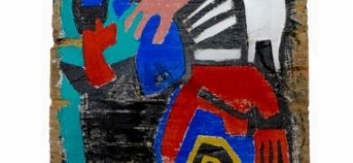 Uma das obras de Cacau Rezende (Foto: Regina Lobianco)